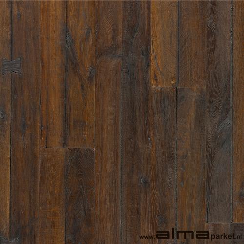 HOUT 18850 houtsoort EIKEN plank planken tapis multiplank duoplank lamel kleur rood gerookt bruin olie lak naturel ALMA PARKET VLOEREN BREDA